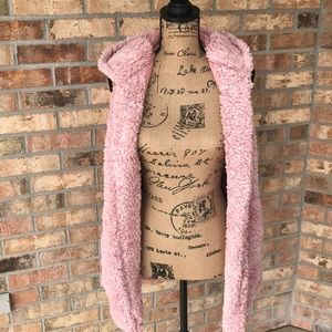 Jackets & Blazers - Blush Teddy Sherpa Hooded Vest